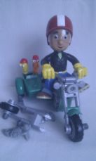 Rare Disney Big Talking 'Handy Manny & his Motorbike' & Tools